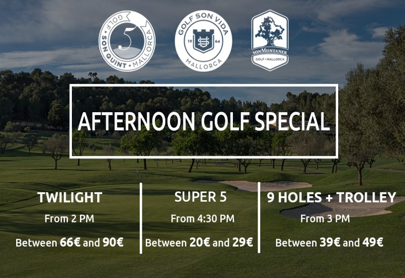 AFTERNOON GOLF SPECIAL